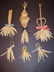 Corn Dollies made on one of the begineers courses